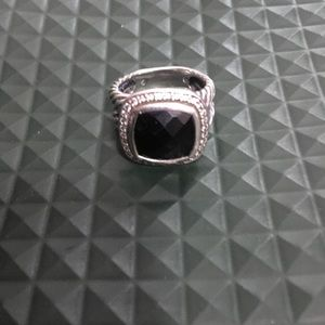 David Yurman black onyx Albion ring.